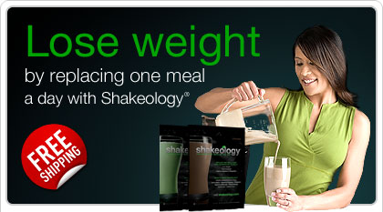 Lose weight by replacing one meal a day with Shakeology®—FREE Shipping