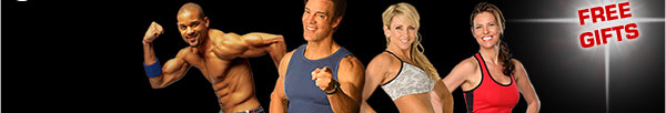 Shaun T, Tony Horton, Chalene Johnson, and Debbie Siebers