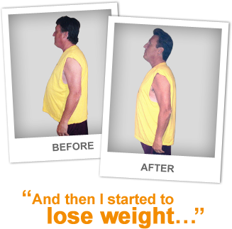 Bob D. Before and After And then I started to lose weight . . . 