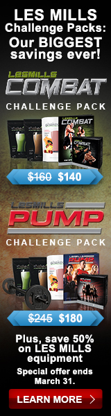 LES MILLS Challenge Pack: Our BIGGEST savings ever! Plus, save 50% on LES MILLS equipment. Offer ends 3/31. BUY NOW