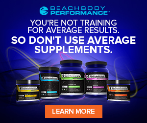 BEACHBODY PERFORMANCE. YOU'RE NOT TRAINING FOR AVERAGE RESULTS. SO DON'T USE AVERAGE SUPPLEMENTS.